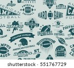 college rugby and american... | Shutterstock . vector #551767729
