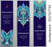 set of three vertical banners.... | Shutterstock .eps vector #551767735