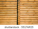 Fragment Of A Wooden House ...