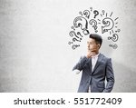 portrait of an asian... | Shutterstock . vector #551772409