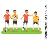 soccer sport athletes  football ... | Shutterstock .eps vector #551773621