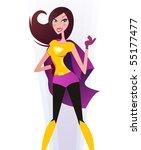 superwoman  superhero . sexy... | Shutterstock .eps vector #55177477