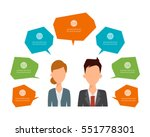 infographic of business man and ...   Shutterstock .eps vector #551778301