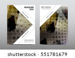 brochure layout template flyer... | Shutterstock .eps vector #551781679