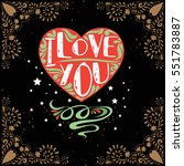 valentines day card. greeting...   Shutterstock .eps vector #551783887