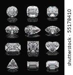 diamond shapes on a black...   Shutterstock . vector #55178410