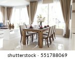 modern dining room | Shutterstock . vector #551788069