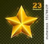 gold star on transparent... | Shutterstock .eps vector #551788159