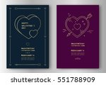 valentines day greeting card... | Shutterstock .eps vector #551788909