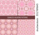 set of 4 cute pink and... | Shutterstock .eps vector #551789845