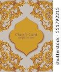 vintage baroque invitation card ...   Shutterstock .eps vector #551792215