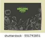 background with vegetables in... | Shutterstock .eps vector #551792851