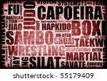 capoeira martial arts as a... | Shutterstock . vector #55179409