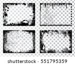 set of grunge transparent... | Shutterstock .eps vector #551795359