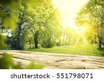 wooden desk of free space and...   Shutterstock . vector #551798071