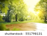 wooden desk of free space and... | Shutterstock . vector #551798131