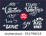 set calligraphic inscriptions   ... | Shutterstock .eps vector #551798215