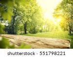 wooden desk of free space and... | Shutterstock . vector #551798221