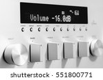 sound amplifier receiver front... | Shutterstock . vector #551800771