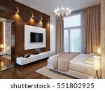 spacious master bedroom with...   Shutterstock . vector #551802925