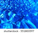 blue metallic silver triangle... | Shutterstock . vector #551803597