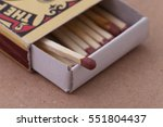 match in box  carton background.... | Shutterstock . vector #551804437