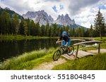 mountain biking in the... | Shutterstock . vector #551804845