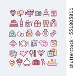 wedding icons set | Shutterstock .eps vector #551805811