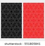 Set Of Geometric Patterns Of...