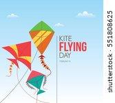 flying kite day vector...   Shutterstock .eps vector #551808625