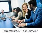 business people working... | Shutterstock . vector #551809987