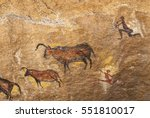 Petroglyph Of Hunters And...
