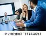 business people conference and... | Shutterstock . vector #551810065