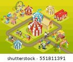 travel circus attractions... | Shutterstock .eps vector #551811391