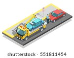 colored isometric parking... | Shutterstock .eps vector #551811454