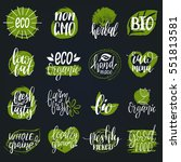 vector eco  organic  bio logos... | Shutterstock .eps vector #551813581