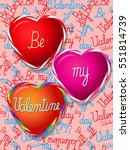 valentines day colorful heart... | Shutterstock .eps vector #551814739