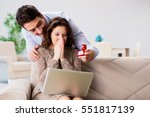 romantic concept with man... | Shutterstock . vector #551817139
