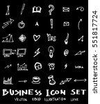business set sketch vector ink... | Shutterstock .eps vector #551817724