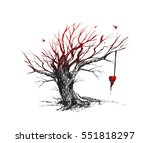 silhouette dry leafless tree...