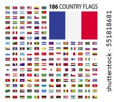 world country flags icon vector ... | Shutterstock .eps vector #551818681