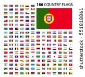 world country flags icon vector ... | Shutterstock .eps vector #551818861