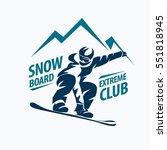Snowboarding Stylized Symbol ...