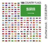world country flags icon vector ... | Shutterstock .eps vector #551818969