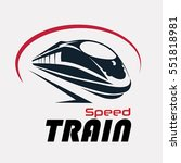 speed train logo template ... | Shutterstock .eps vector #551818981