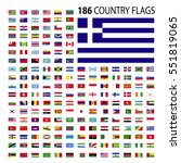 world country flags icon vector ... | Shutterstock .eps vector #551819065