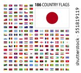 world country flags icon vector ... | Shutterstock .eps vector #551819119