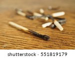heap of burnt matches on the...   Shutterstock . vector #551819179