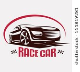 race car symbol logo template ... | Shutterstock .eps vector #551819281