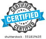 certified. stamp. sticker. seal.... | Shutterstock .eps vector #551819635